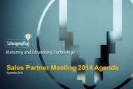 Sales meeting Scheugenpflug 2014 Agenda covering